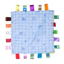 Inchant Comforting Blue Generic Baby Blanket with Satin Tags - Infant Teething Clothes Teething Blanket