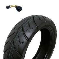MMG Tire Size 120/70-12 Motorcycle Scooter Tubeless DOT Approved P116, Includes TR87 Bent Metal Valve Stem