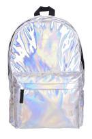 Pulama Water Proof PU Leather Backpack Vintage School Bag Hologram Rainbow