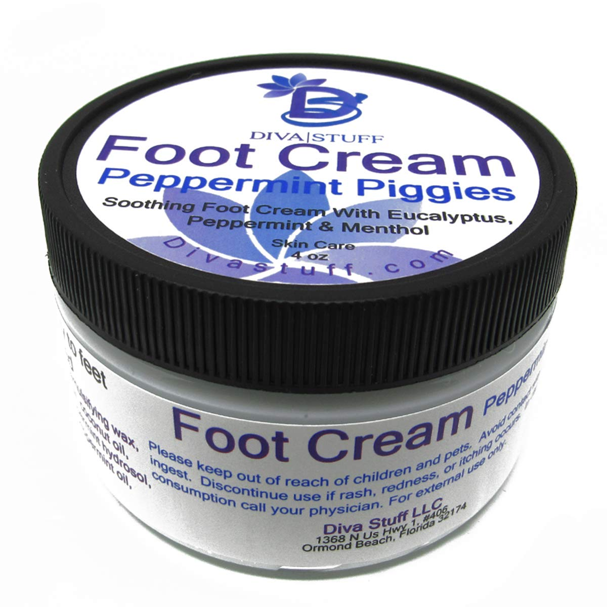Peppermint Piggies Soothing Foot Cream w/Eucalyptus, Peppermint & Menthol, by Diva Stuff