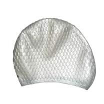 Pusheng Water Droplet Silicone Swimming Cap Elastomeric Solid Long Hair Swim Cap for Men and Women