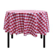 Vedouci 72 Inch Checkered Round Tablecloth Round Table Cloth for Round Tables in Washable Polyester, Great for Buffet Table, Parties, Holiday Dinner, Wedding & More