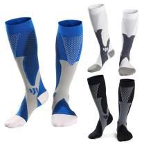 Hellomamma Medical Athletic Compression Socks Men Women 20-30mmHg Nursing Stocking for Traveling Running Marathon Basketball