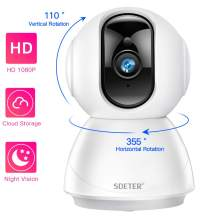 1080P WiFi Security Dome Camera, SDETER HD Home IP Wireless 2-Way Audio Motion Detection Night Vision Baby/Pet Monitor Compatible with iOS&Android