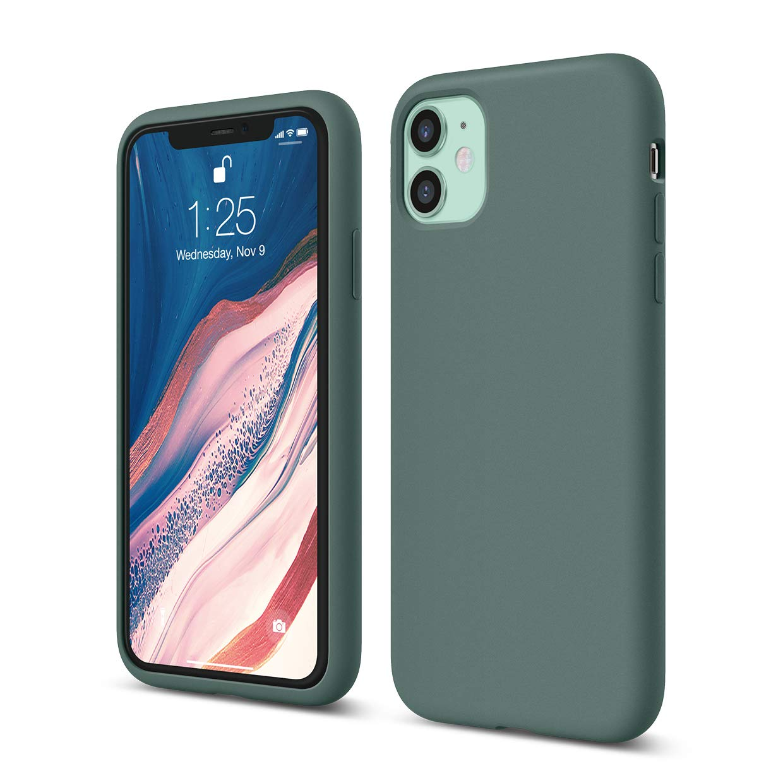 elago iPhone 11 Silicone Case |Midnight Green| - Premium Liquid Silicone, Raised Lip (Screen & Camera Protection), 3 Layer Structure, Full Body Protection, Flexible Bottom