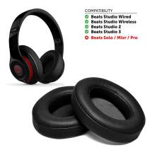 Replacements Ear Pads, Foam Ear Pad Cushion Ear Cover Replacement Cushion Compatible with Beats Studio 2 and Studio 3 (Black)