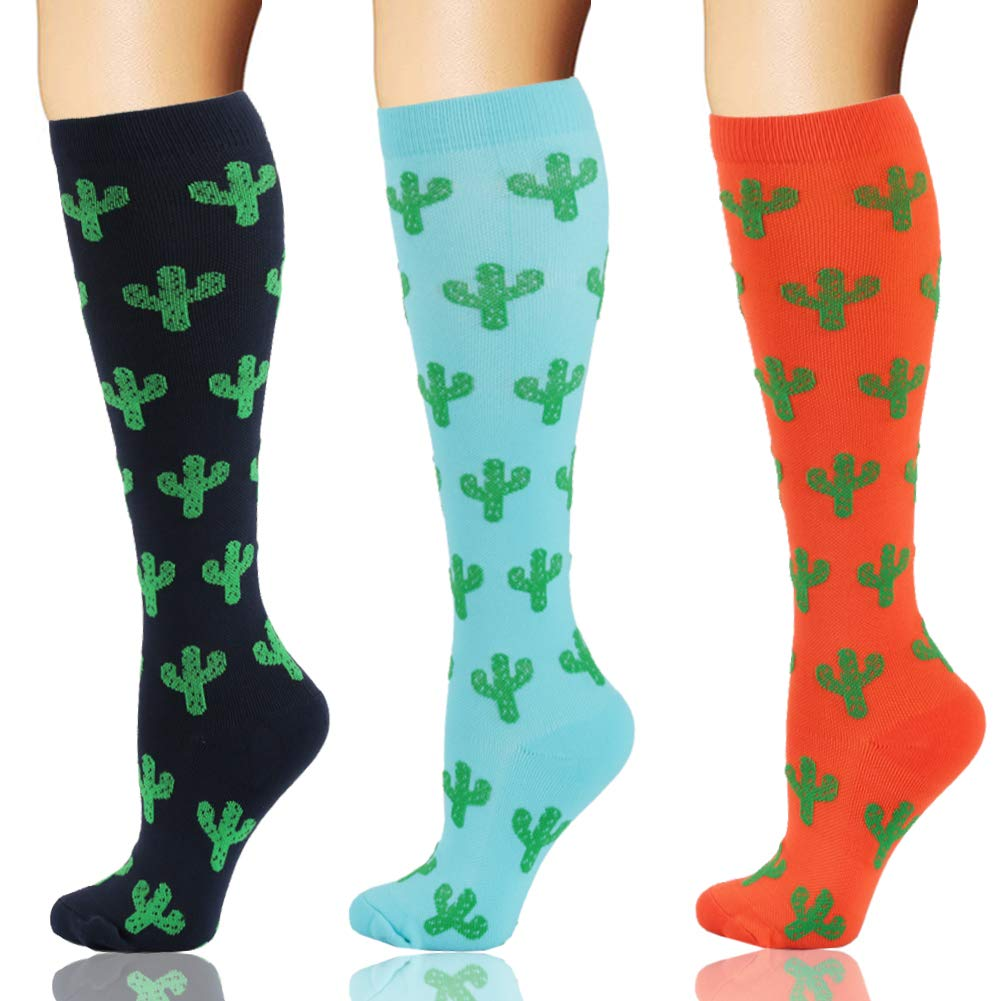 Compression Socks 20-30mmHg for Women & Men - Graduated Knee High Stockings Best for Running