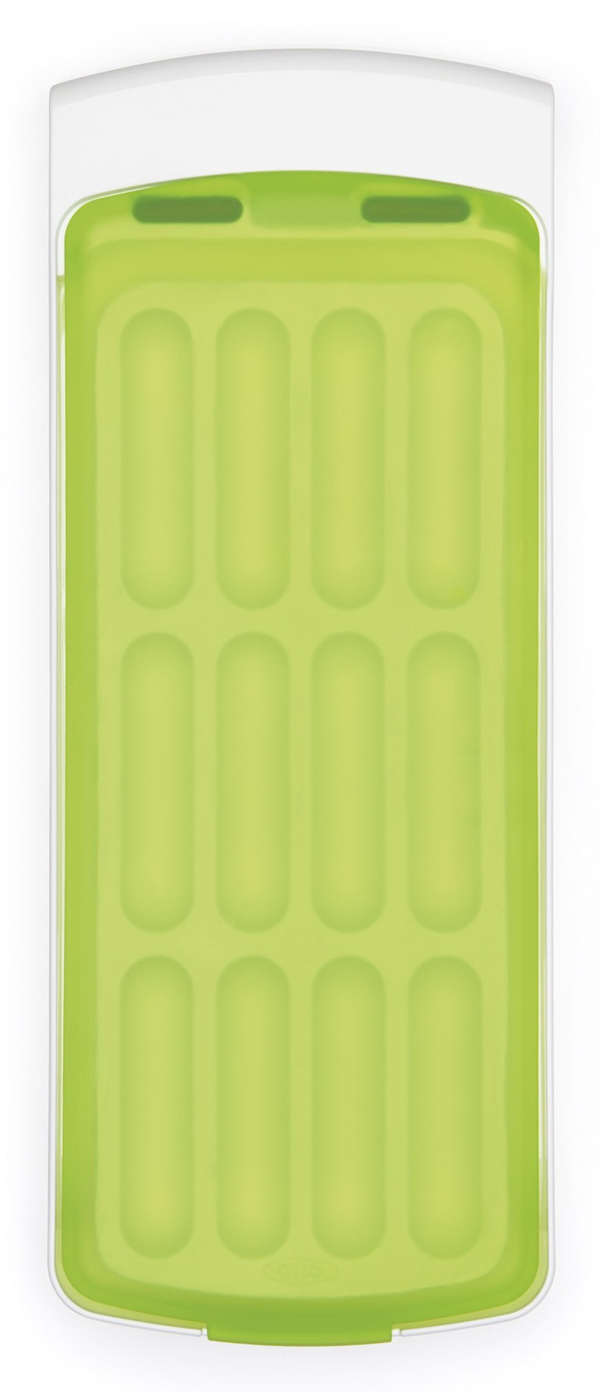 OXO 11147700 Good Grips No-Spill Silicone Ice Stick Tray for Water Bottles,Green