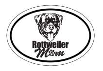 WickedGoodz Oval Rottweiler Mom Decal - Dog Mom Bumper Sticker - Perfect Rottweiler Breed Owner Gift