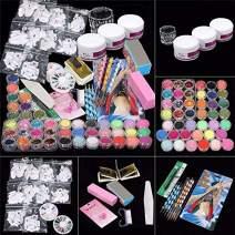 42 in 1 Nail Art Set Acrylic Nail Powder Glitter Brush Nail Art Tools Kit Set
