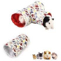 2 Pcs Small Animal Tube, Guinea Pig Hideaway Play Tunnel, Fun Pet Toy for Hamster, Chinchillas, Mice, Rats, Gerbil Rat, Squirrel, Hedgehog …