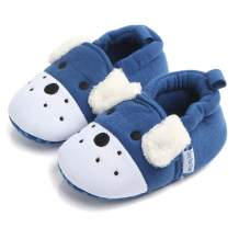 Sawimlgy Newborn Infant Baby Boys Girls Cute Cartoon Slipper Soft Non Skid Sole Slip On House Animal Indoor Sock Shoes Crib Moccasins for New Walkers