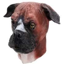 Latex Animal Dog Mask, Realistic Boxer Dog Head Mask Super Bowl Underdog Dog Mask