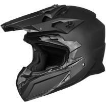 ILM Adult ATV Motocross Off-Road Street Dirt Bike Full Face Motorcycle Helmet DOT Approved Dual Sports Suits Men Women(S Matte Black)