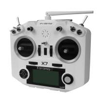 FrSky 2.4G Accst Taranis Q X7 16 Channels Transmitter Remote Controller White Battery and Battery Trays Not Include