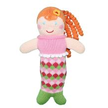 Zubels Baby Penny The Mermaid Hand-Knit RattleToy, All-Natural Fibers, Eco-Friendly, 7-Inch
