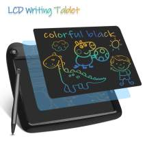 LCD Writing Tablets, Colorful Drawing Doodle Board 9 Inch Digital eWriter for Kids Portable Electronic Graphics Black