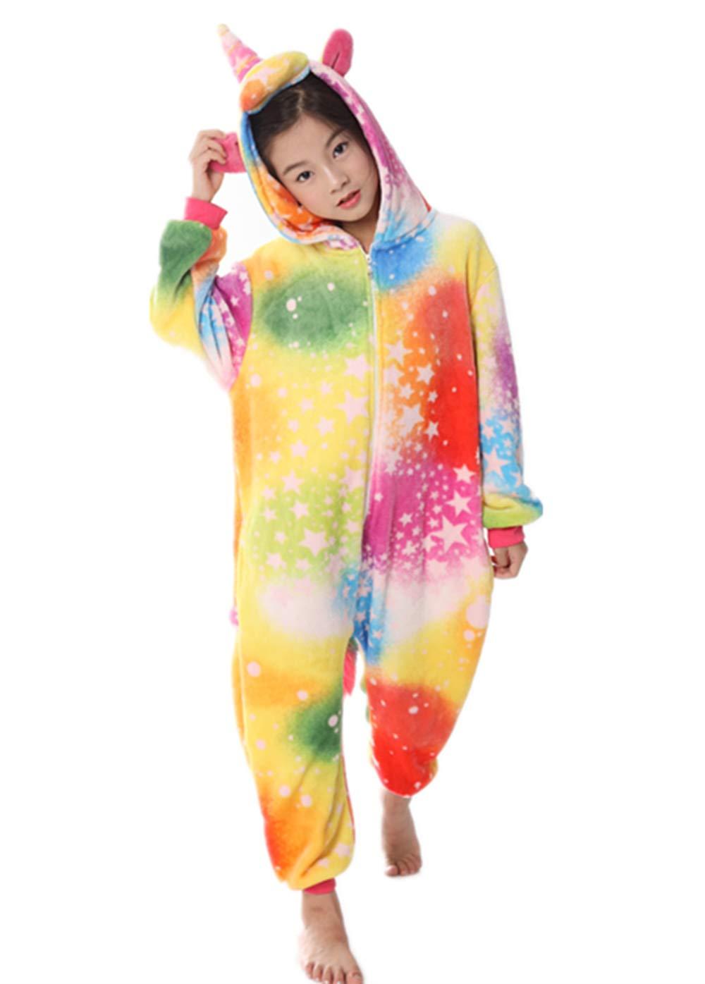 Unicorn Pajama Onesie for Girls Xmas Animal Cosplay Fancy Dress Costume 3-11 Years