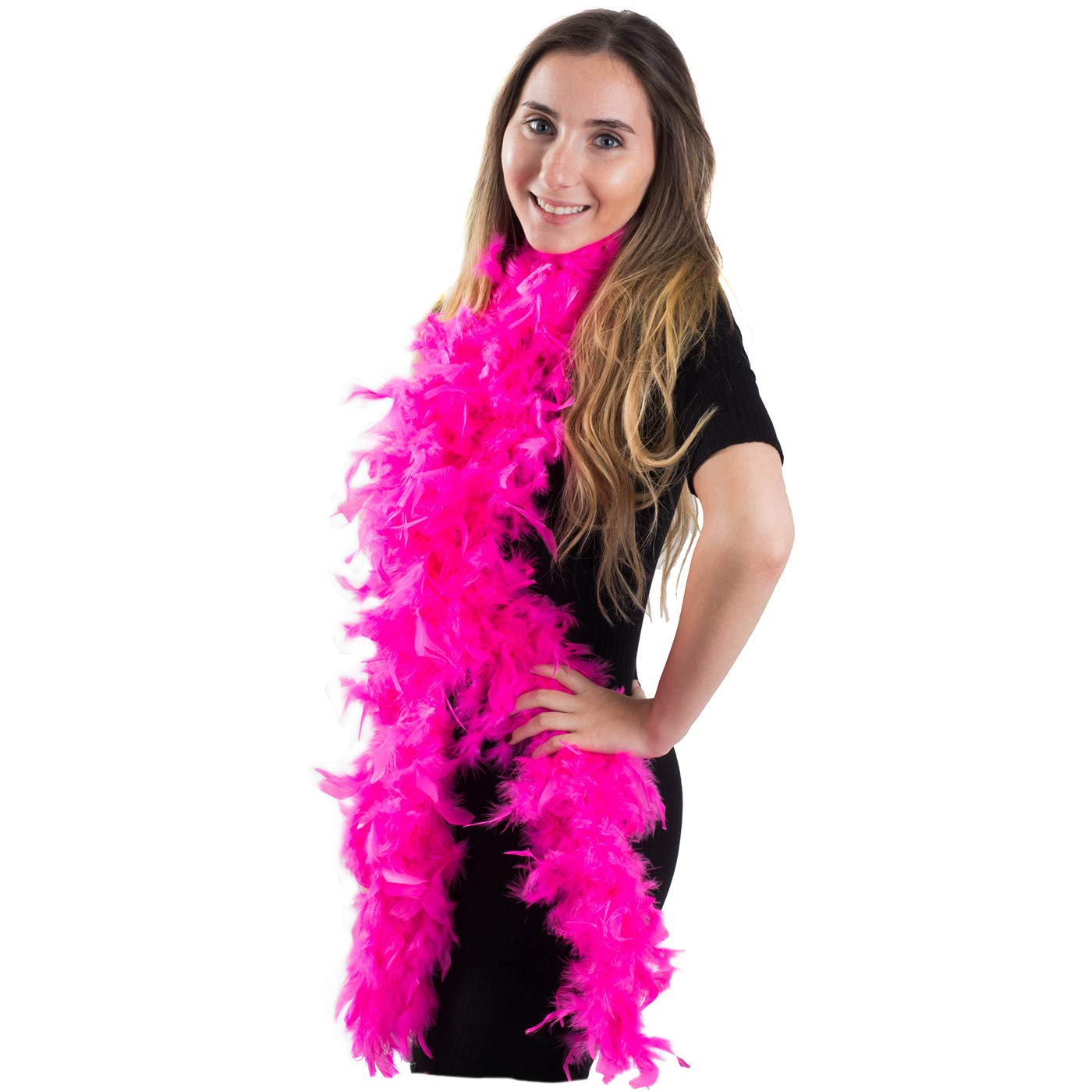 Feather Boa - Marabou Feather Boa – Flapper Accessories – Diva Dress Up - By Funny Party Hats