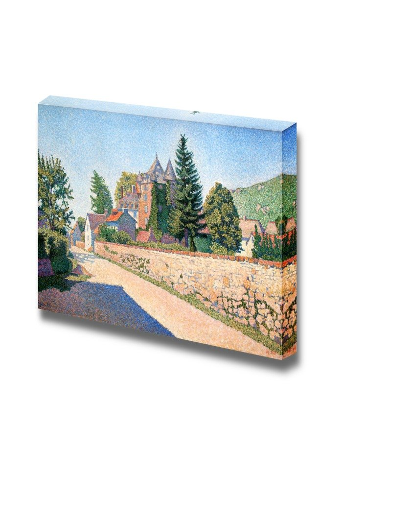 """wall26 - Comblat Castle by Paul Signac - Canvas Print Wall Art Famous Painting Reproduction - 16"""" x 24"""""""