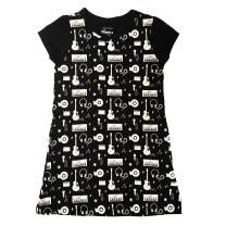 Mightly Kids Clothing - Rock n Roll Short-Sleeve T-Shirt Dress for Girls, Organic Cotton, 4T