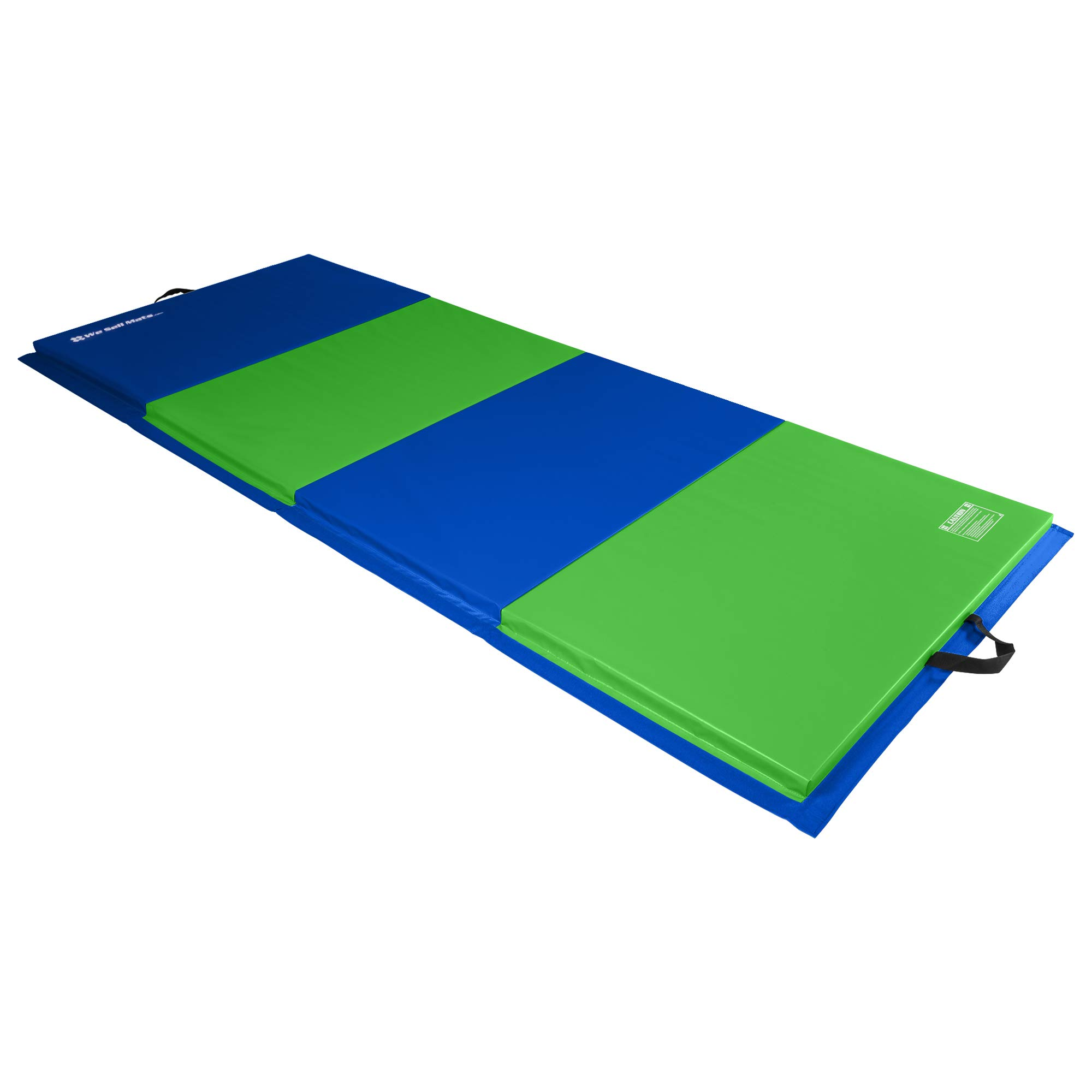 We Sell Mats 4 ft x 10 ft x 2 in Personal Fitness & Exercise Mat, Lightweight and Folds for Carrying
