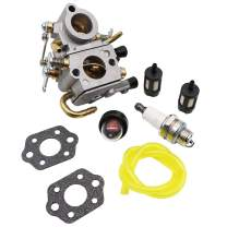 KIPA Carburetor for Stihl TS410 TS420 Concrete Cut Off Saw OEM Number 4238 120 0600, Replace for ZAMA C1Q-S118 Carburetor with New Gasket Fuel Filter Spark Plug