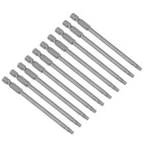 uxcell 10 Pcs T20 Magnetic Torx Screwdriver Bits, 1/4 Inch Hex Shank 3.93-inch Length S2 Power Tool