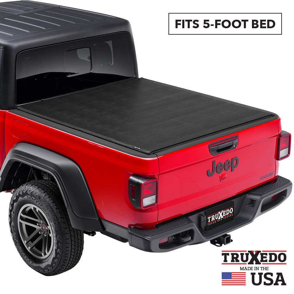 TruXedo Sentry Hard Rolling Truck Bed Tonneau Cover | 1523201 | fits 2020 Jeep Gladiator; with Trail Rail System 5' bed