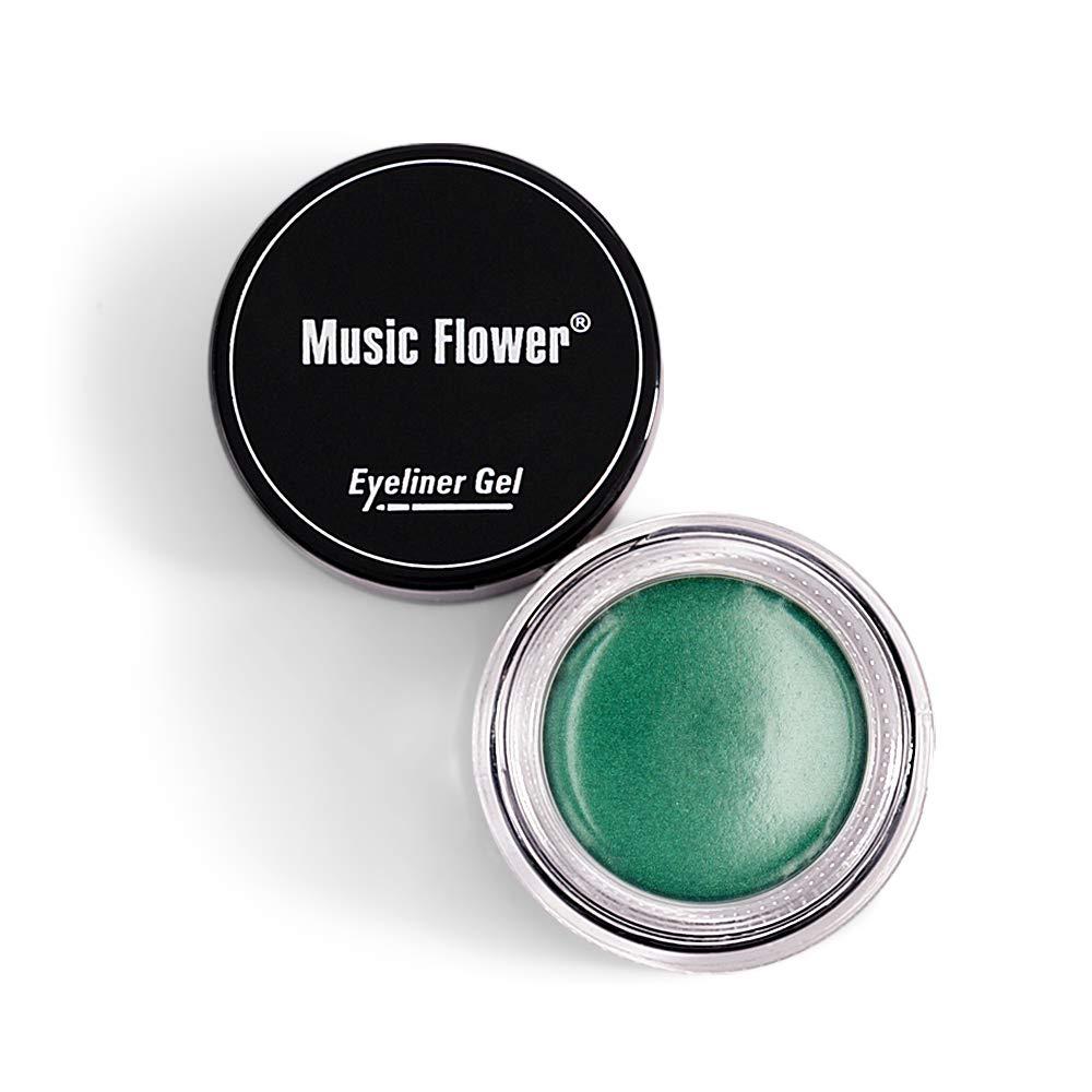 Music Flower Fascinating Eyeliner Gel Eyeliner Cream Longlasting Waterproof Smudge-proof Smooth Eyes Makeup (5# Green)