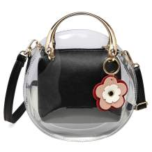 Forestfish Clear Crossbody Bag Purse Handbags Shoulder Tote Bag with Adjustable Shoulder Strap for Women or Grils Gift