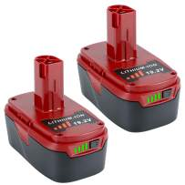Lasica 2-Pack 5.0Ah Craftsman 19.2 Volt Replacement Battery for Craftsman 19.2 Volt C3 XCP Cordless Tool Battery 315.PP2011 935706 130279005 1323903 130211004 Craftsman Drill Battery