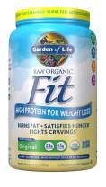 Garden of Life Raw Organic Fit Powder, Original - High Protein for Weight Loss (28g) plus Fiber, Probiotics & Svetol, Organic & Non-GMO Vegan Nutritional Shake, 20 Servings