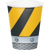 96-Count 9 Ounce Hot/Cold Paper Cups, Construction Birthday Zone