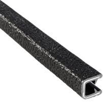 "Trim-Lok Edge Trim – Fits 1/4"" Edge, 1/2"" Leg Length, 100' Length, Black, Pebble Texture – Flexible PVC Edge Protector for Sharp/Rough Surfaces, Easy to Install"