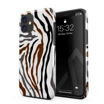 BURGA Phone Case Compatible with iPhone 11 - Wild Zebra Fur Skin Print Exotic Safari Savage Desert Africa Heavy Duty Shockproof Dual Layer Hard Shell + Silicone Protective Cover
