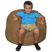 Comfy Sacks Kids Memory Foam Bean Bag Chair, Cocoa Micro Suede