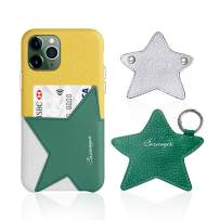 Cassenger Star Series Leather Case for iPhone 11 Pro-Comes with Matching Earphone Pouch and Cord Keeper- (Lemon/Forest Green)