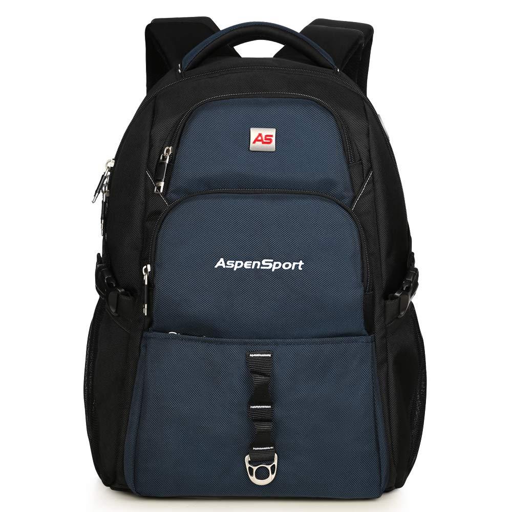 """ASPENSPORT Laptop Backpack for Men fit 15.6""""-17"""" School Bag Water Repellent"""