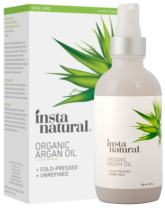 Organic Argan Oil - for Hair, Face, Skin and Body - 100% Pure and Certified Organic Cold Pressed Argan Oil of Morocco - For Nails, Dry Scalp, Split Ends, Stretch Marks & More - InstaNatural - 4 oz