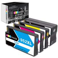 GPC Image Remanufactured Ink Cartridge Replacement for HP 952 XL 952XL Ink to use with HP 8710 8720 8740 7740 8210 8715 8730 8702 8740 8216 8725 8216 Printer (Black, Cyan, Magenta, Yellow, 4 Pack)
