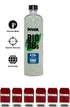 KWA - 0.25g Bio BB Bottle (5000 RDS) + 6 Airsoft Target