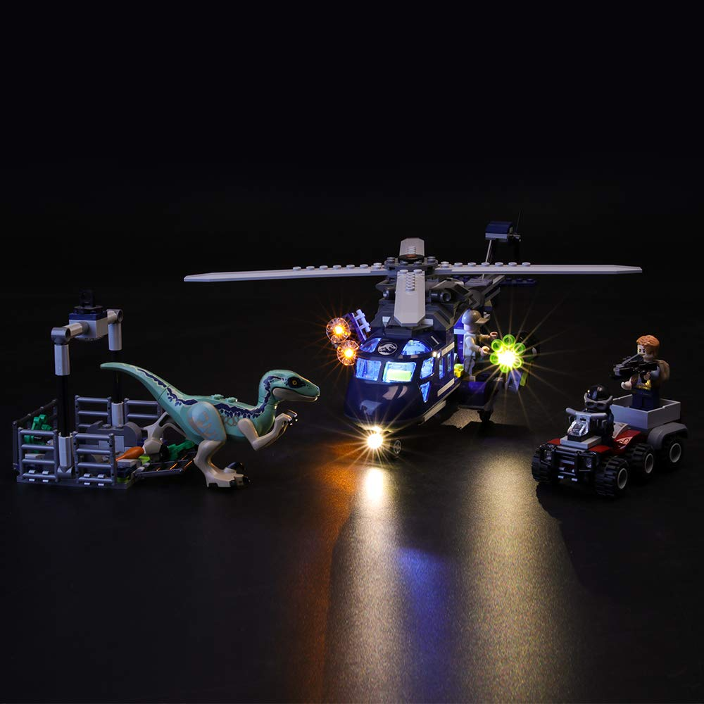BRIKSMAX Led Lighting Kit for Blue's Helicopter Pursuit - Compatible with Lego Jurassic World 75928 Building Blocks Model- Not Include The Lego Set