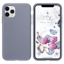 OUXUL Case for iPhone 11 Pro 5.8 inch(2019) Liquid Silicone Gel Rubber Phone Case, Full Body Slim Soft Microfiber Lining Cushion Shockproof Protective Case Compatible with iPhone 11 Pro(Lavender Gray)