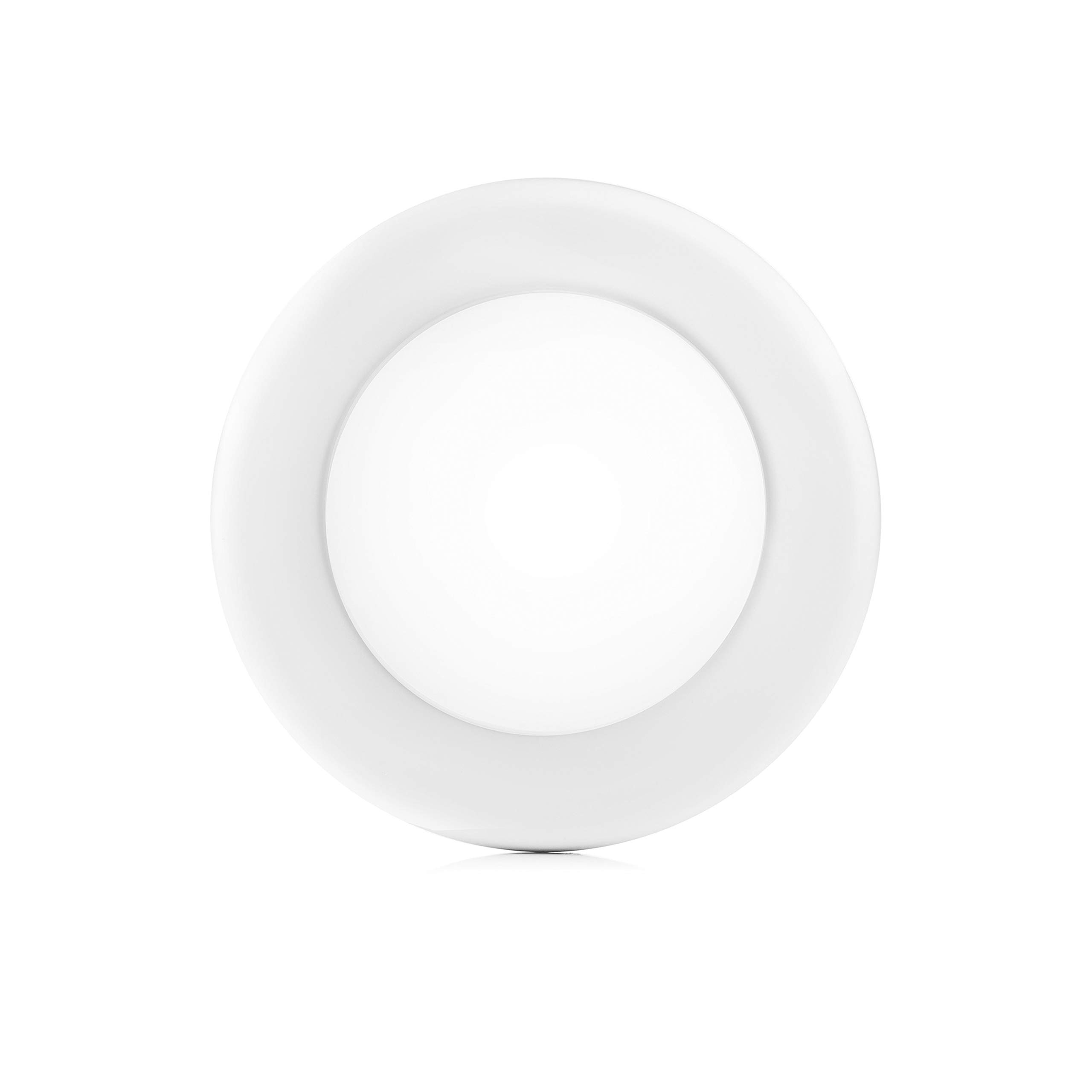 PARMIDA (1 Pack) 4 inch Dimmable LED Disk Light Flush Mount Recessed Retrofit Ceiling Lights, 10W (60W Replacement), 650lm, Installs into Junction Box, ENERGY STAR & ETL-Listed, 4000K (Cool White)