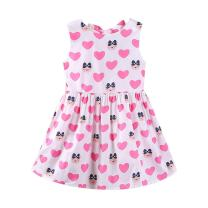 Mud Kingdom Little Girl Dress Backless Cartoon Bear Cute Summer