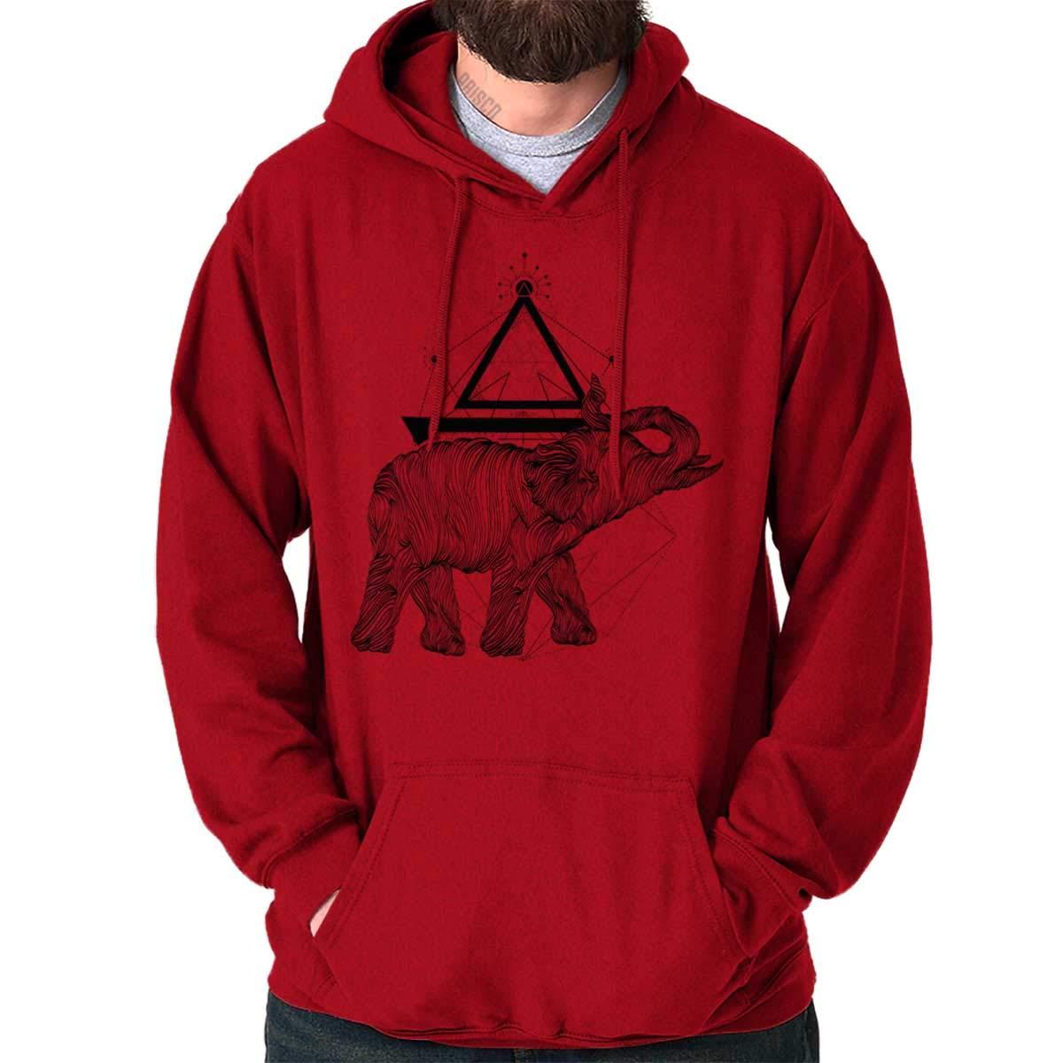 Spiritual Animal Elephant Triangle Cool Gym Hoodie