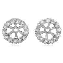 Dazzlingrock Collection 0.50 Carat (ctw) 14K Gold Round Diamond Cluster Style Removable Jackets Stud Earrings 1/2 CT