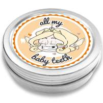 FANS & Friends Baby Tooth Box Keepsake Girl & boy, Baby Teeth Box Metal, Tooth Fairy Gifts, Tooth Box for Lost Teeth, Tooth Holder, Tooth Saver for Kids (Orange)