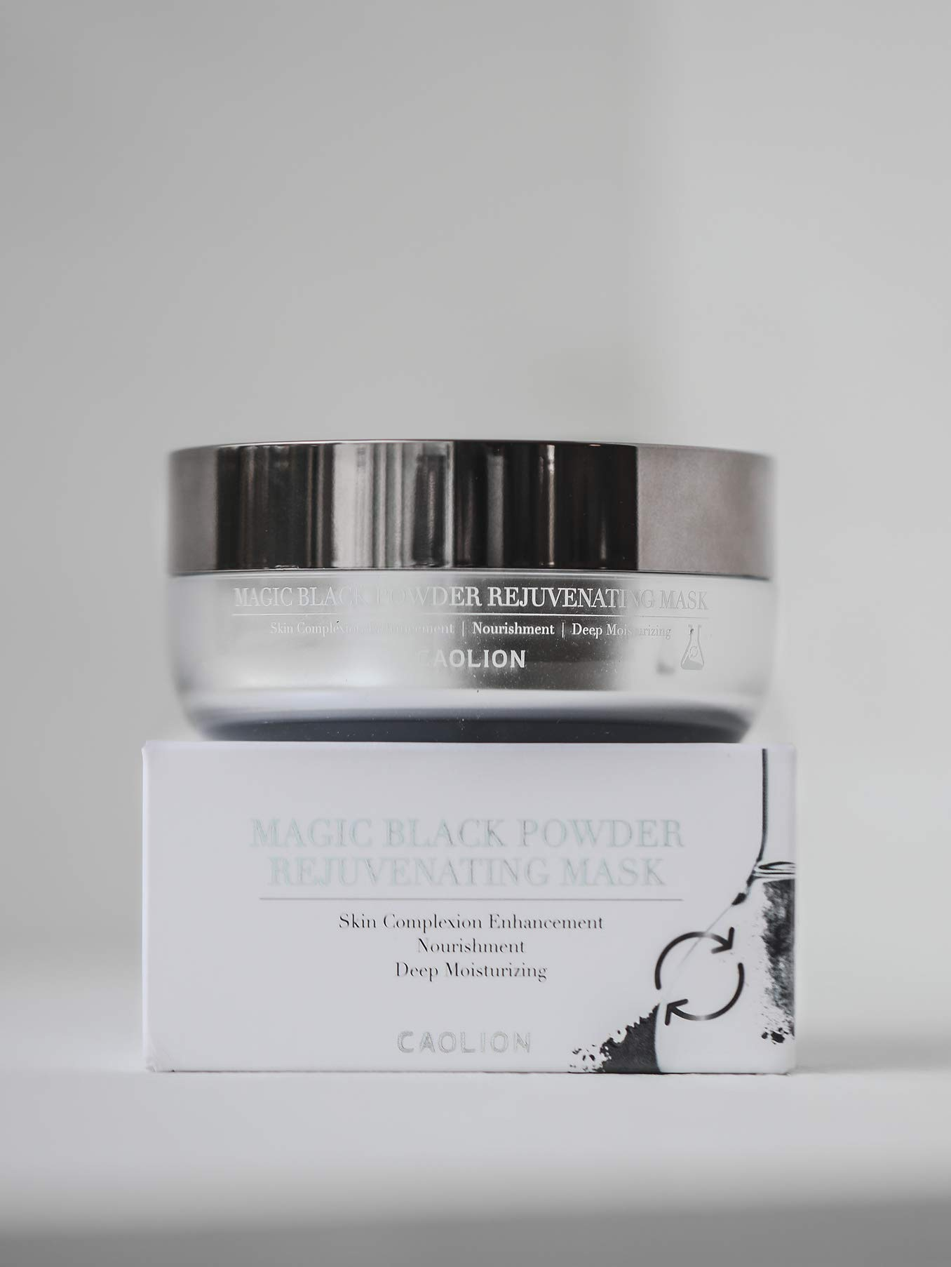 Caolion Magic Black Powder Rejuvenating Mask - Enhances Complexion, Nourishing, Deep Moisturizing - 1.76 oz.